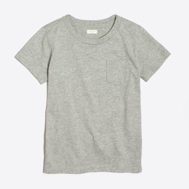 Boys' short-sleeve heathered jersey pocket T-shirt