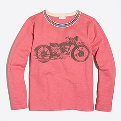 Boys' long-sleeve motorcycle storybook T-shirt