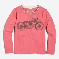 Boys' long-sleeve motorcycle storybook T-shirt