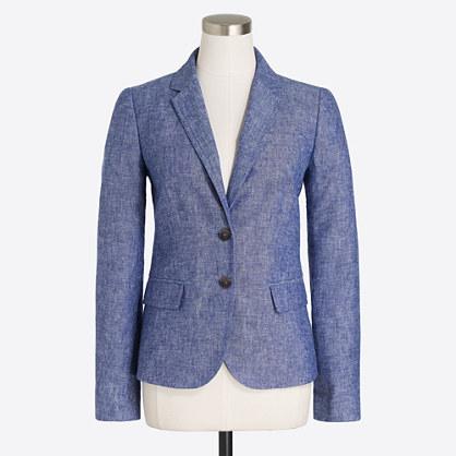 Schoolboy blazer in linen-cotton