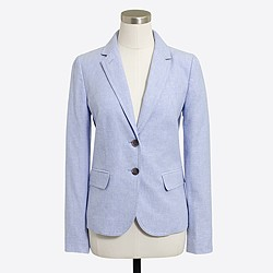 Schoolboy blazer in linen-cotton