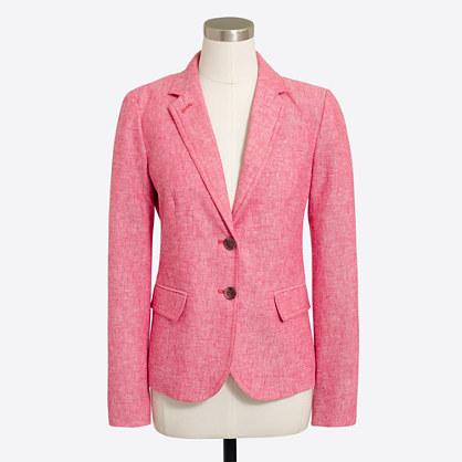 Petite schoolboy blazer in linen-cotton