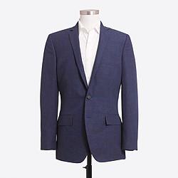 Thompson blazer in glen plaid linen-cotton with double vent