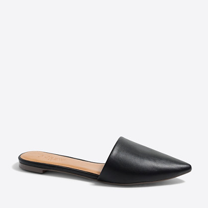 Leather mule slides