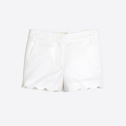 Girls' scallop-hem short