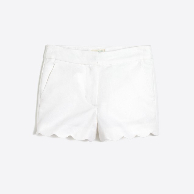 Girls' scallop-hem short