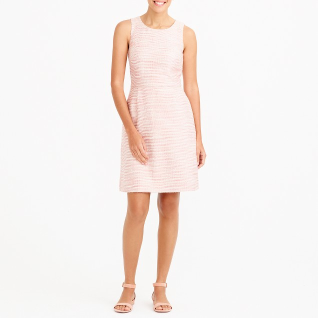 Shimmer bouclé dress