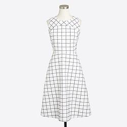 Windowpane tweed dress