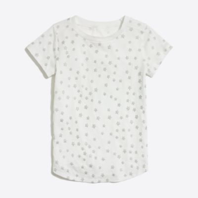 Girls' glitter stars shirttail-hem T-shirt factorygirls made-for-play basics under $25 c