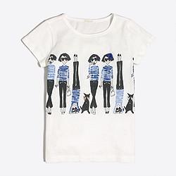 Girls' handstand keepsake T-shirt