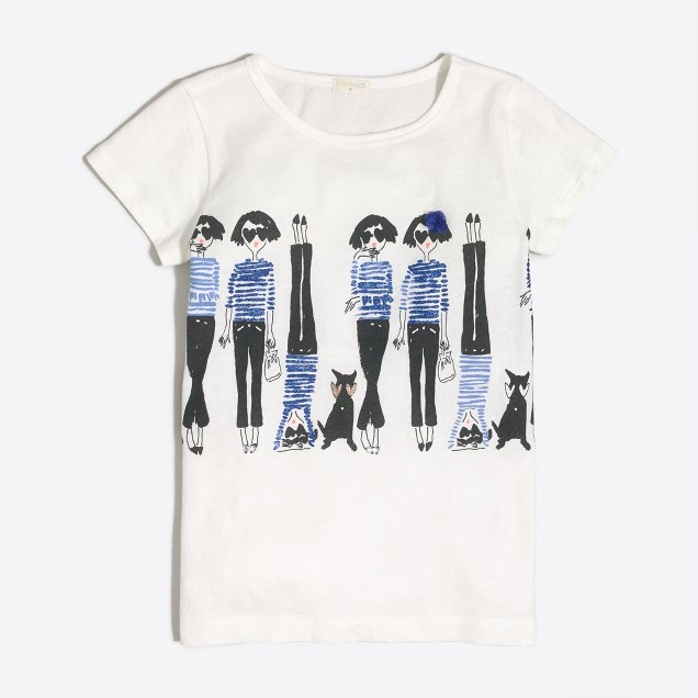 Girls' handstand keepsake T-shirt