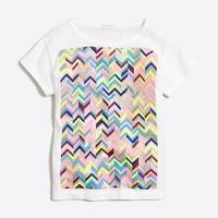 Girls' rainbow chevron keepsake T-shirt