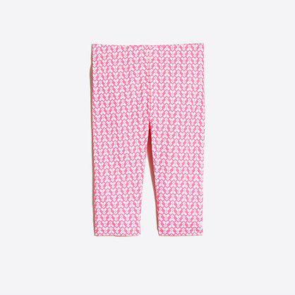 Girls' printed capri leggings