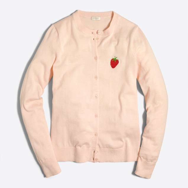 Embroidered strawberry Caryn cardigan sweater