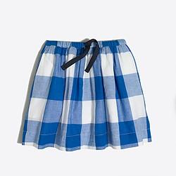 Girls' printed drawstring skirt