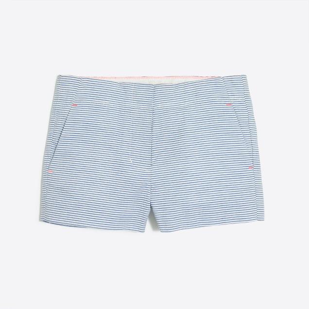 Girls' seersucker short