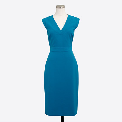 Drapey V-neck crepe dress