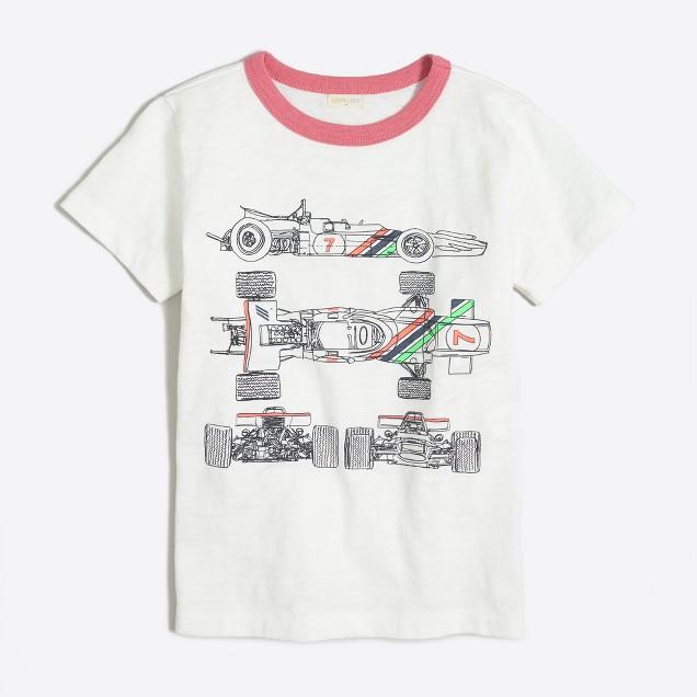 Boys' racecar lines storybook T-shirt