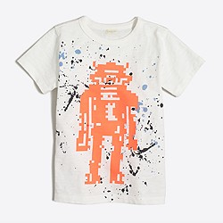 Boys' splatter robot storybook T-shirt