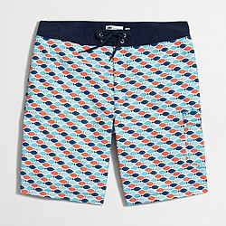 "9"" printed swim short"