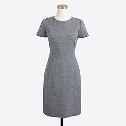 Cotton-linen dobby dress