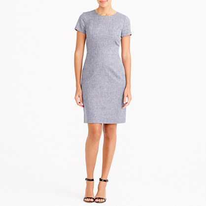 Cotton-linen dobby dress