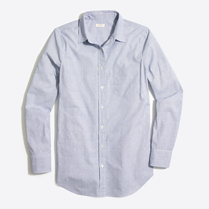 Striped dobby washed shirt in boy fit