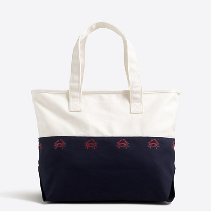 Critter canvas tote