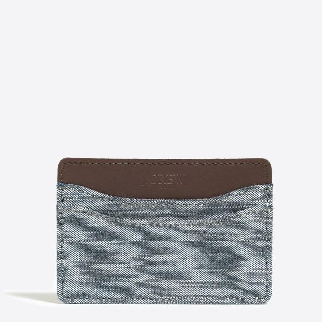 Fabric card case