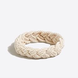 Braided nautical rope bracelet