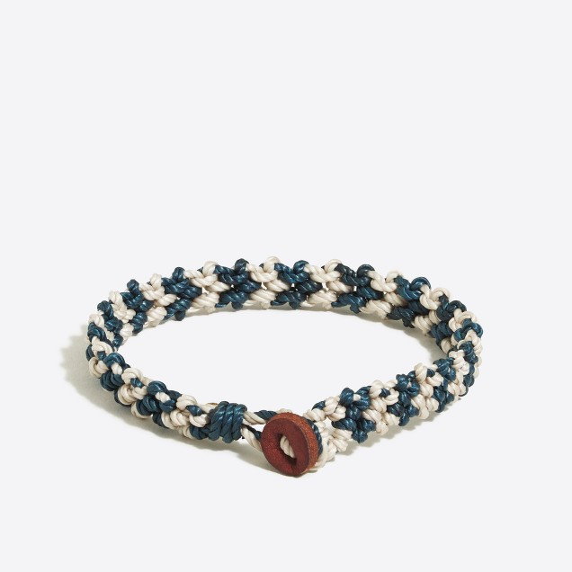 Waxed thread bracelet