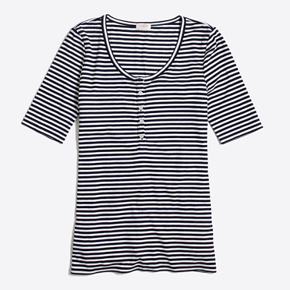 Striped henley T-shirt