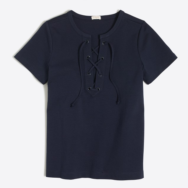 Lace-up T-shirt