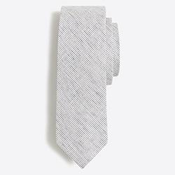 Indigo cotton-linen tie