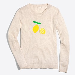 Intarsia lemon Teddie sweater