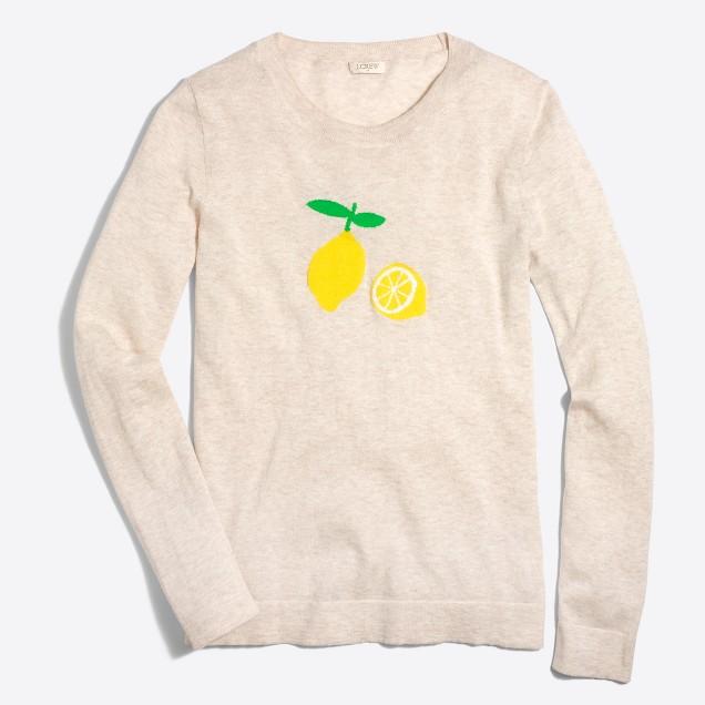 Intarsia lemon Teddie sweater