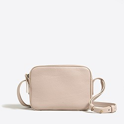 Mini crossbody bag in leather