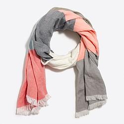 Block stripe scarf