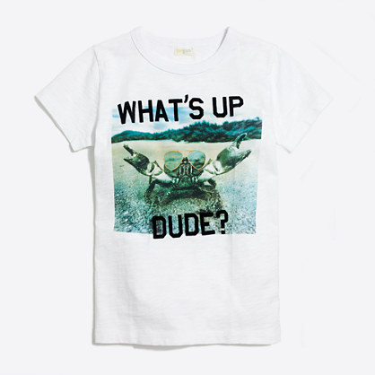"Boys' ""what's up"" crab storybook T-shirt"