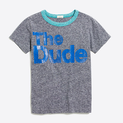 "Boys' ""the dude"" storybook T-shirt"
