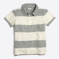 Boys' rugby-stripe polo shirt