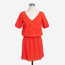 Cap-sleeve gauze dress