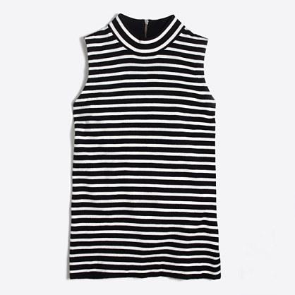 Striped cotton sweater-vest