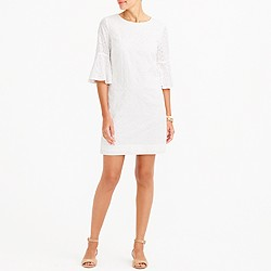 Bell-sleeve eyelet dress