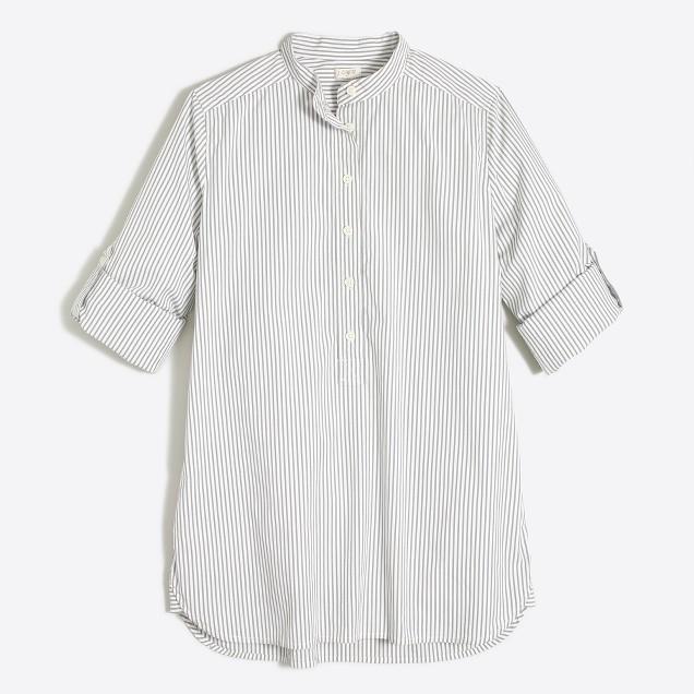 Petite striped tunic shirt