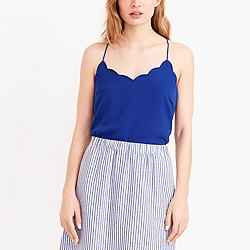 Scalloped cami top
