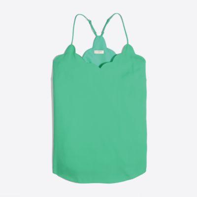 Scalloped cami top factorywomen shirts & tops c