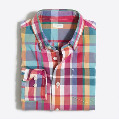 Boys' madras shirt