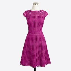 Square-neck eyelet dress