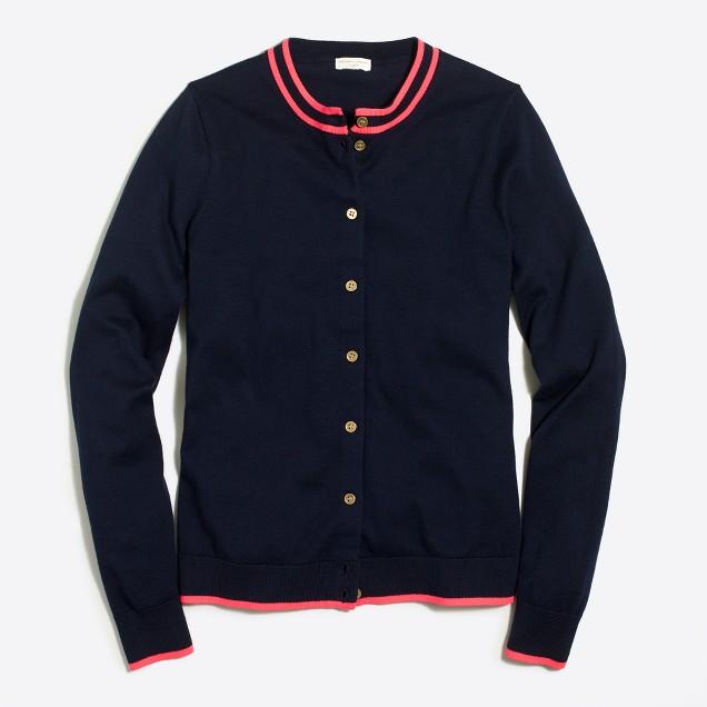 Tipped Caryn cardigan sweater